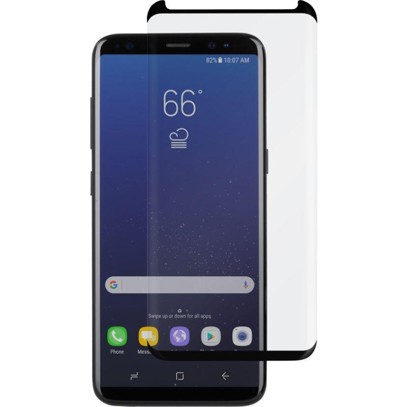 モシ メンズ PC・モバイルギア アクセサリー IonGlass for Galaxy S8 Plus Clear w/ Black Border