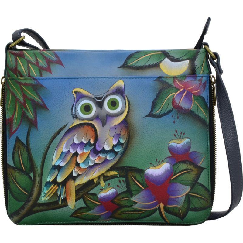 アンナバイアナシュカ メンズ ボディバッグ・ウエストポーチ バッグ Hand Painted Extendable Crossbody Midnight Owl