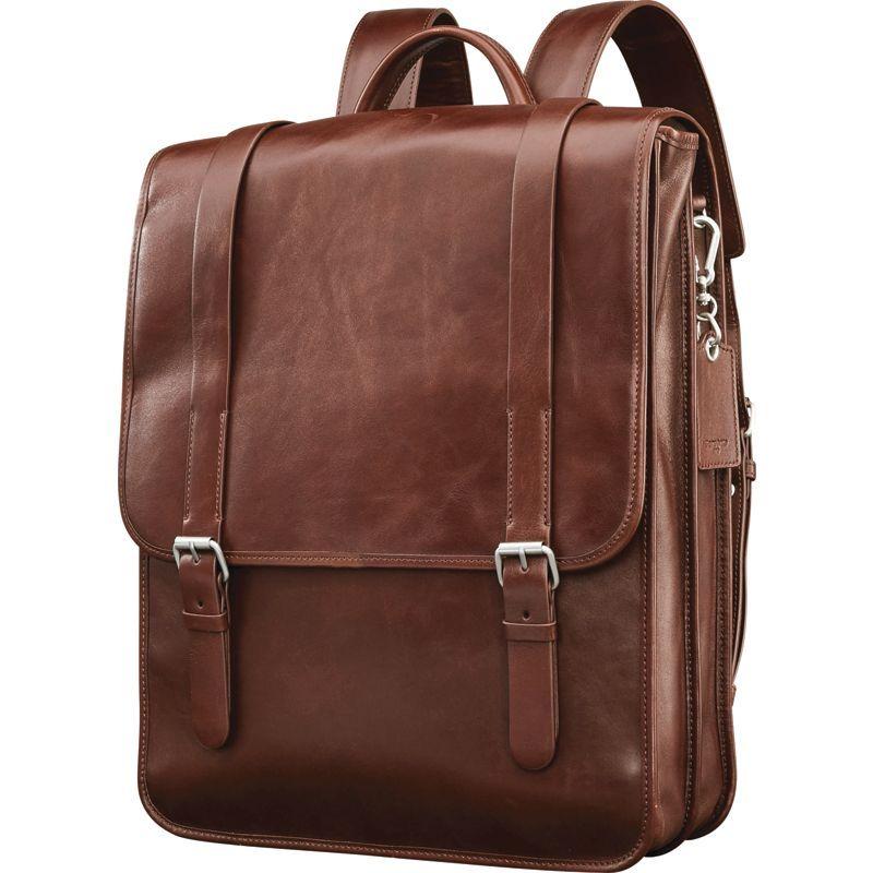 サムソナイト メンズ スーツケース バッグ Mens Leather 1910 Hertiage Backpack Chestnut