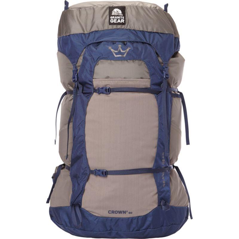 グラナイトギア レディース バックパック・リュックサック バッグ Womens Crown2 60L Hiking Pack Flint/Midnight Blue - Short Torso