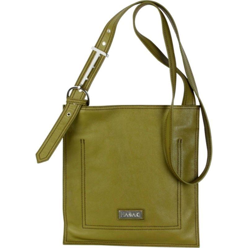 ハダキ メンズ ボディバッグ・ウエストポーチ バッグ Leather Scoop Sling Moss Green