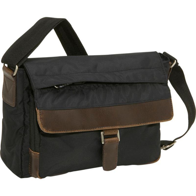 デレクアレクサンダー メンズ ショルダーバッグ バッグ East/West Travel or Day Bag Black