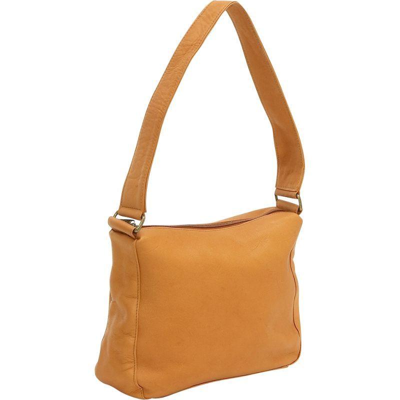 ルドネレザー メンズ ショルダーバッグ バッグ Top Zip Shoulder Bag Tan