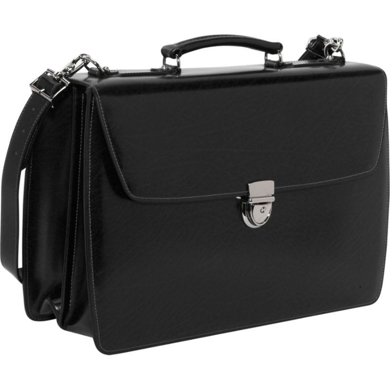 ジャックジョージス メンズ スーツケース バッグ Elements Collection Flapover Laptop Briefcase Black