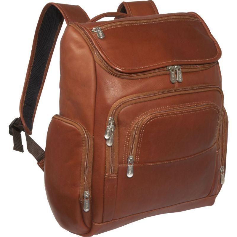 ピエール メンズ スーツケース バッグ Multi-Pocket Laptop Backpack Saddle