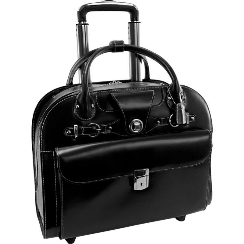マックレイン メンズ スーツケース バッグ Edgebrook Wheeled Ladies 15 Laptop Case Black