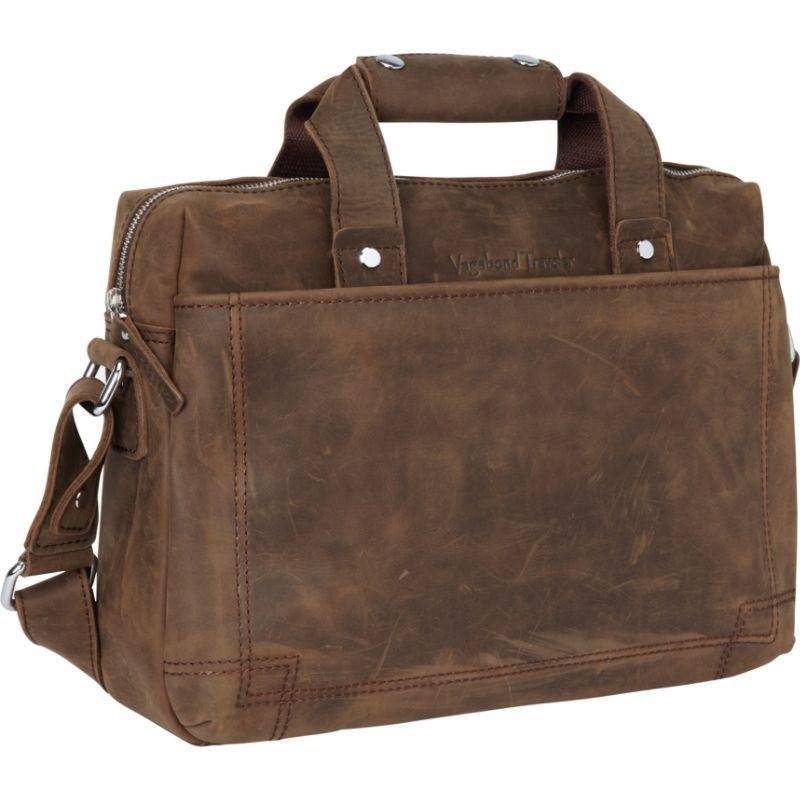 ヴァガボンドトラベラー メンズ スーツケース バッグ 15 Leather Laptop Briefcase Bag Vintage Distress