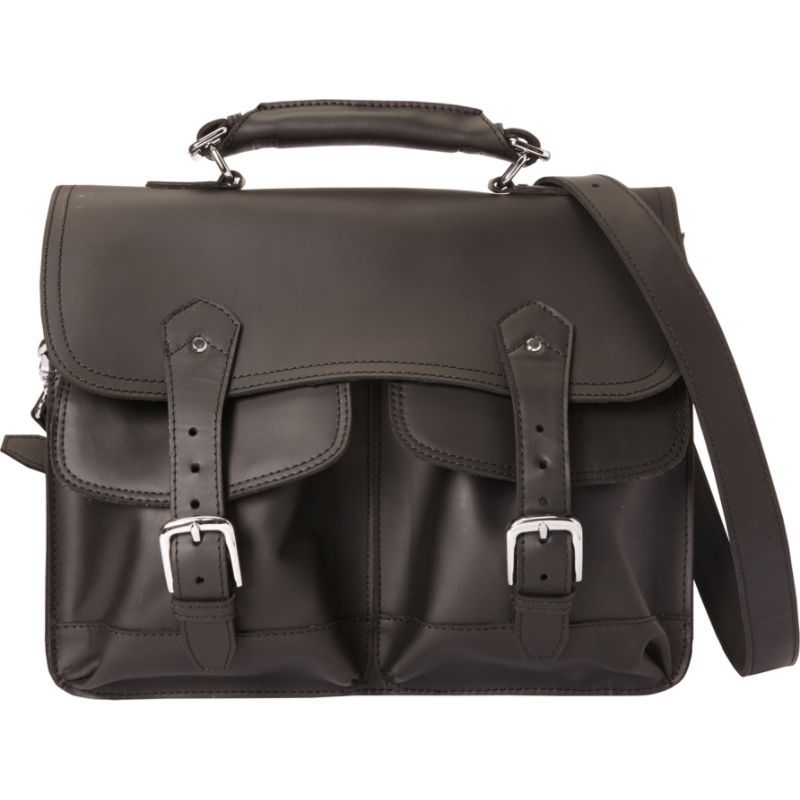 ヴァガボンドトラベラー メンズ スーツケース バッグ 16.5 Leather Laptop Briefcase Black