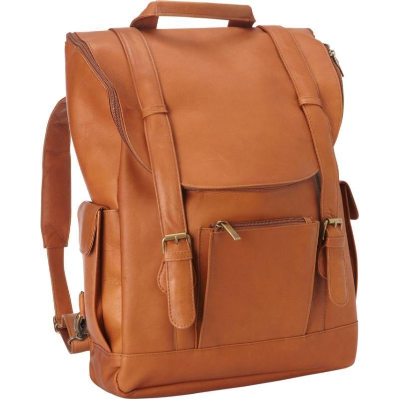 ルドネレザー メンズ スーツケース バッグ Classic Laptop Backpack Tan