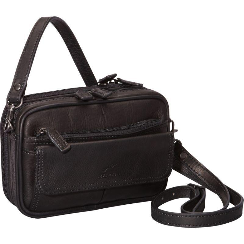 マンシニレザーグッズ メンズ ショルダーバッグ バッグ Colombian Leather Compact Day Travel Bag Black