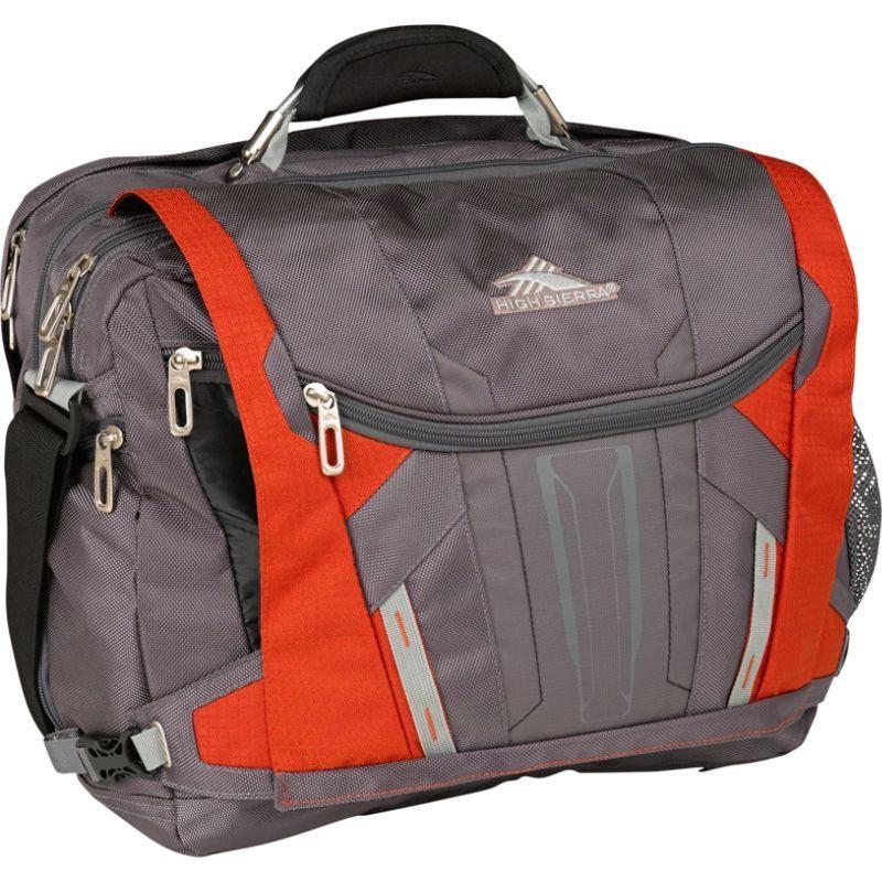 ハイシエラ メンズ ショルダーバッグ バッグ XBT TSA Messenger Charcoal, Lava, Black, Silver