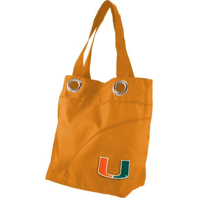 リトルアース メンズ トートバッグ バッグ Color Sheen Tote - ACC Teams University of Miami