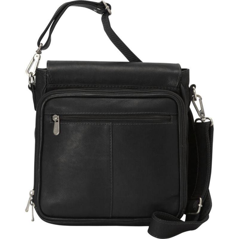 ピエール メンズ ショルダーバッグ バッグ Double Loop Tablet Carry-All Messenger Bag Black