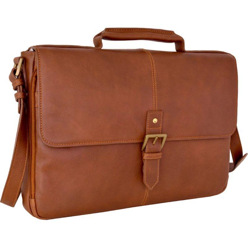 ハイデザイン メンズ スーツケース バッグ Charles Leather 15 Laptop Compatible Briefcase Work Bag Tan