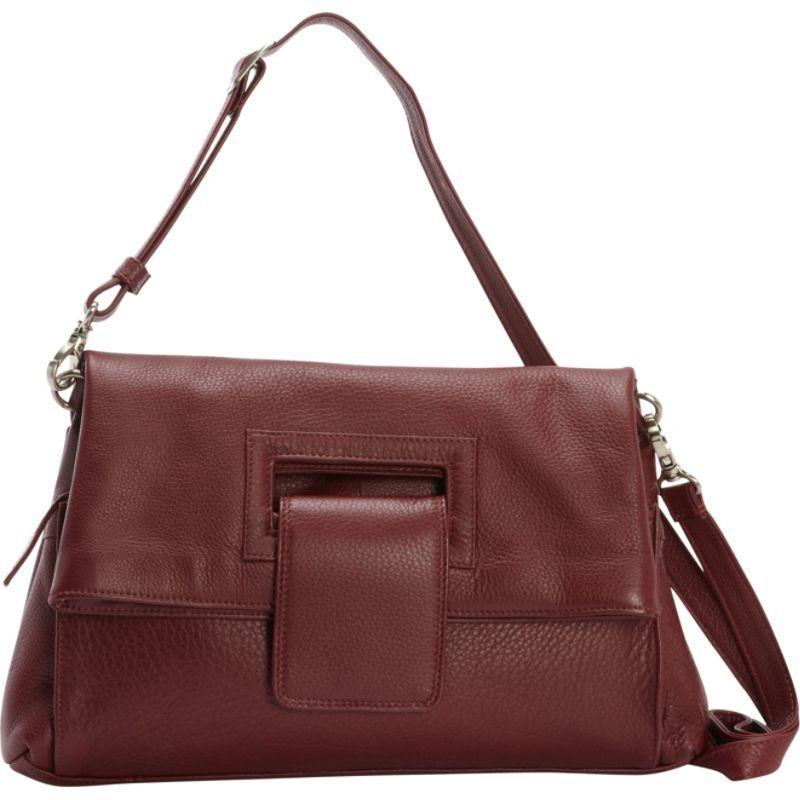 デレクアレクサンダー メンズ ボディバッグ・ウエストポーチ バッグ Envelope Flap Crossbody Handbag  Wine