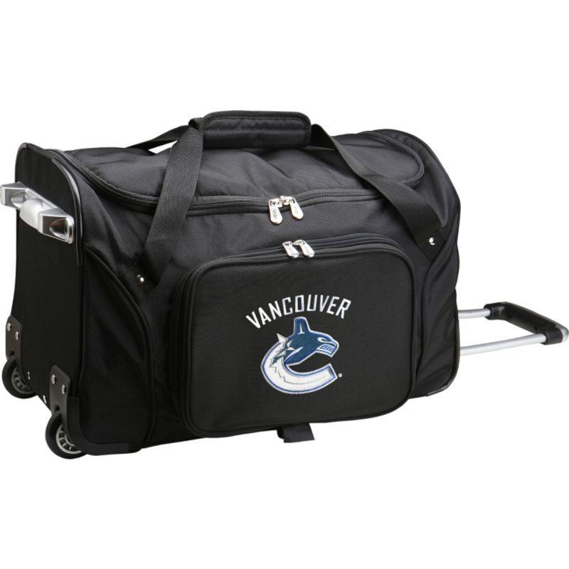 デンコスポーツ メンズ スーツケース バッグ NHL 22 Rolling Duffel Vancouver Canucks