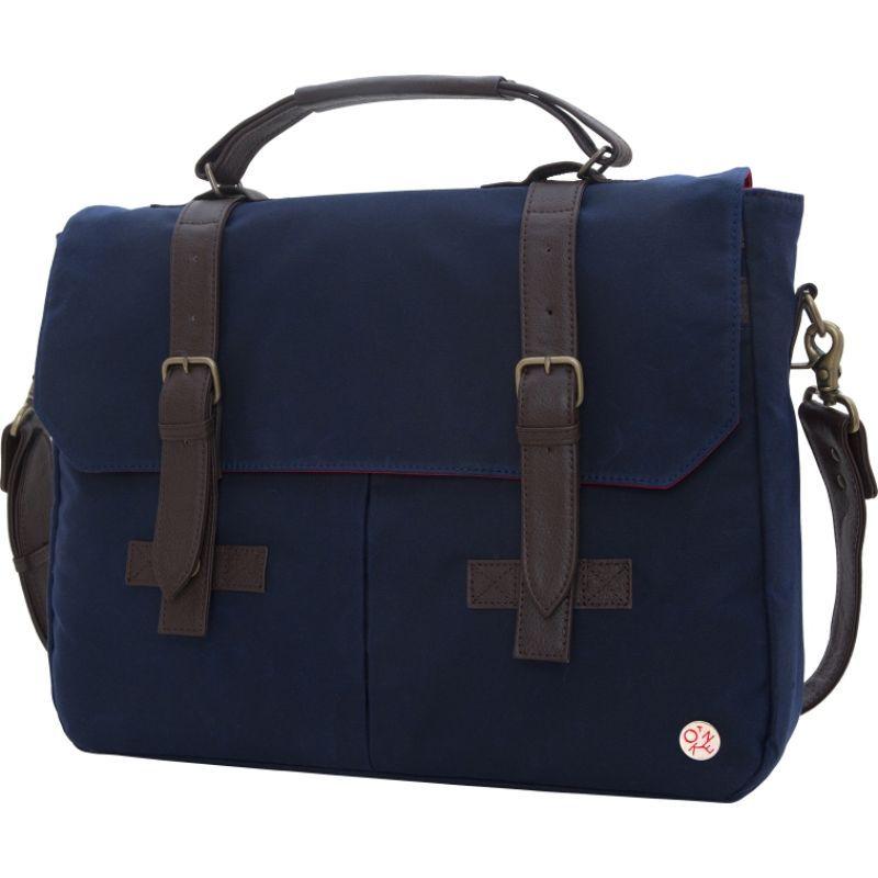 トーケン メンズ スーツケース バッグ Waxed Cortelyou Bag Navy