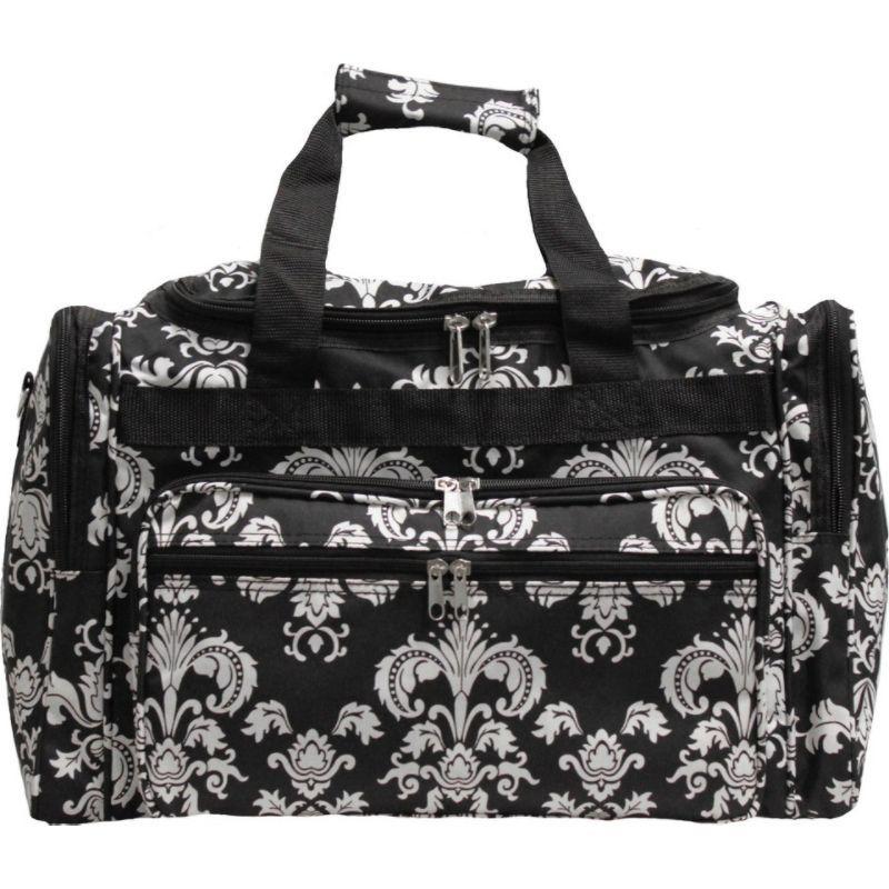 ワールドトラベラー メンズ スーツケース バッグ Damask ll 22 Travel Duffle Bag Black White Damask II
