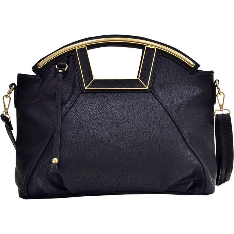 ダセイン メンズ ショルダーバッグ バッグ Soft Faux Leather Frame Handle Satchel Black