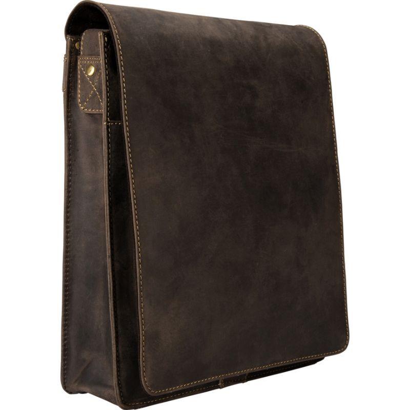 ビスコッティ メンズ ショルダーバッグ バッグ Organizer Messenger Bag In Distressed Leather Oil Brown
