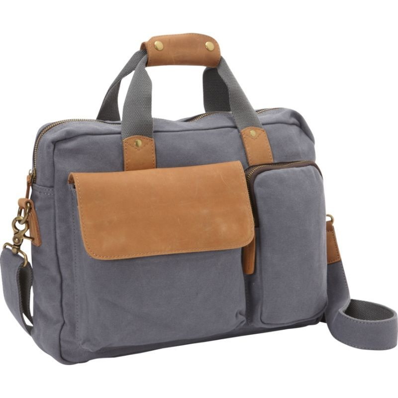 ヴァガボンドトラベラー メンズ スーツケース バッグ Canvas 14 Laptop Messenger Bag- eBags Exclusive Blue Grey