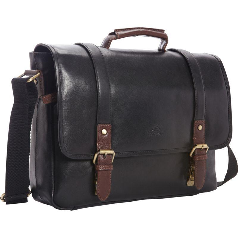 マンシニレザーグッズ メンズ スーツケース バッグ RFID Secure Laptop Messenger Bag - Exclusive Black