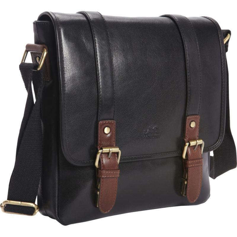 マンシニレザーグッズ メンズ ショルダーバッグ バッグ RFID Secure Tablet Bag - Exclusive Black