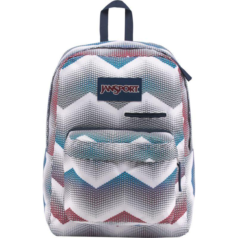 ジャンスポーツ メンズ バックパック・リュックサック バッグ Digibreak Laptop Backpack- Sale Colors Matrix Chevron White