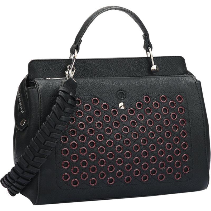 ダセイン メンズ ショルダーバッグ バッグ Designer Holes and Weave Strap Shoulder Bag Black