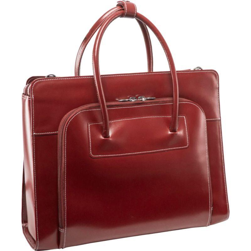 マックレイン レディース スーツケース バッグ W Series Lake Forest Leather Women's 15 Laptop Case Red