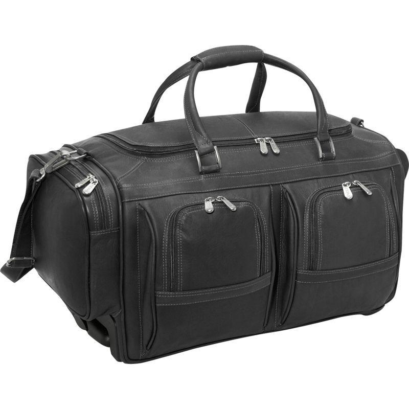 ピエール メンズ スーツケース バッグ Duffel 22 With Pockets on Wheels Black