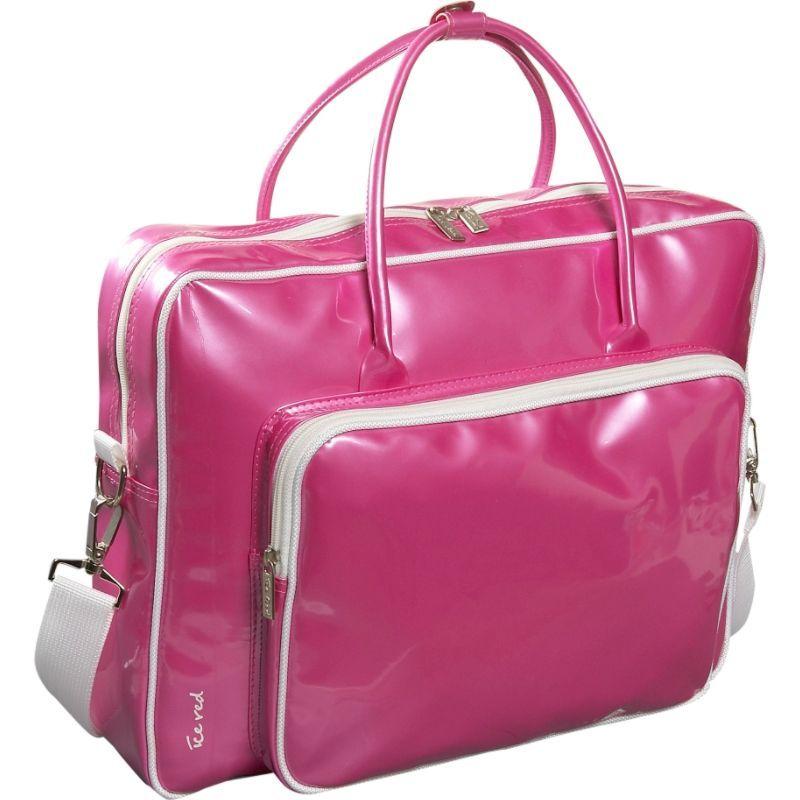 アイスレッド メンズ スーツケース バッグ Shine Glossy Laptop Tote Pink