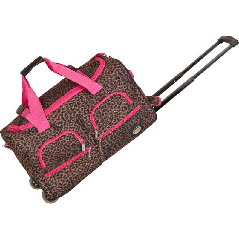 ロックランド メンズ スーツケース バッグ 22 Rolling Duffle Bag PinkLeopard