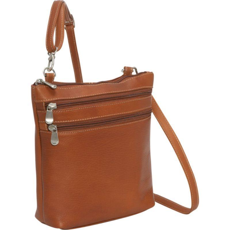 ルドネレザー メンズ ボディバッグ・ウエストポーチ バッグ Cross Body Zip Bag Tan