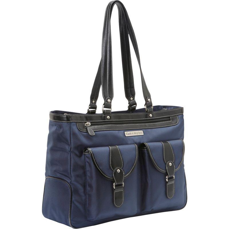 クラークアンドメイフィールド メンズ スーツケース バッグ Marquam Laptop Handbag 18.4 Navy Blue