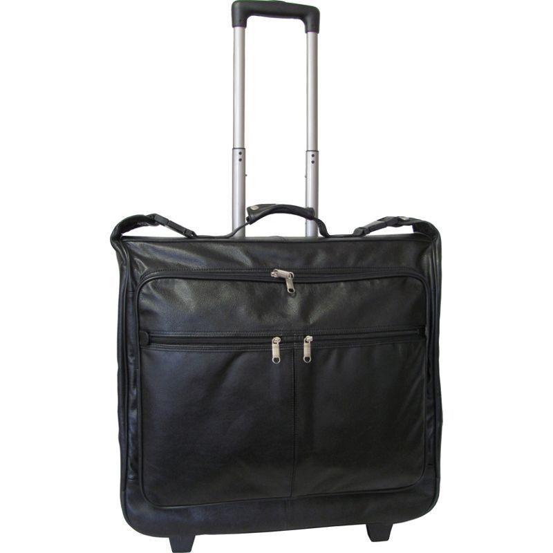 アメリ メンズ スーツケース バッグ Wheeled Leather Garment Bag Black