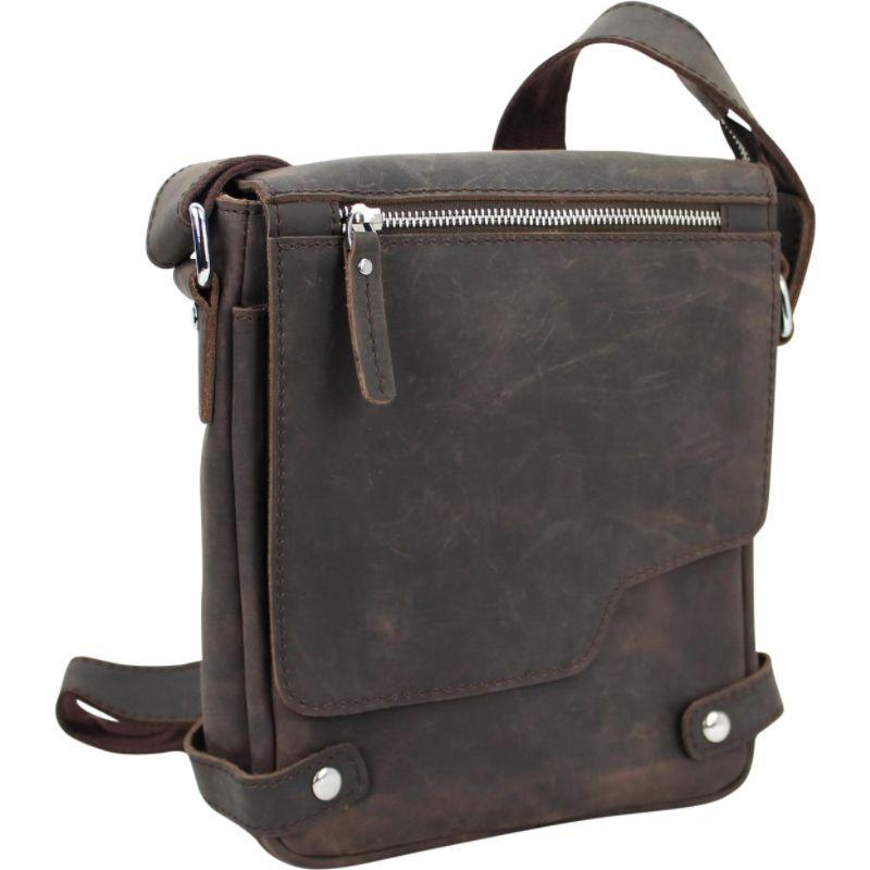 ヴァガボンドトラベラー メンズ ショルダーバッグ バッグ SIGHTSEER - 10 Leather Casual Style Day Bag Dark Brown