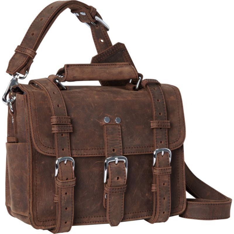 ヴァガボンドトラベラー メンズ ショルダーバッグ バッグ 12 Classic Full Leather Messenger Tablet Bag Vintage Distress