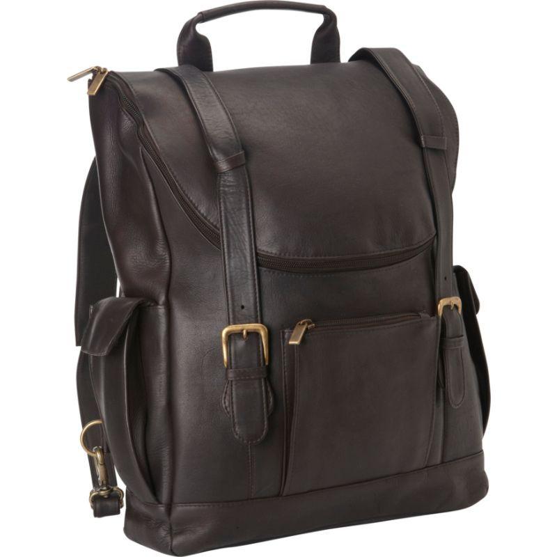 ルドネレザー メンズ スーツケース バッグ Classic Laptop Backpack Cafe