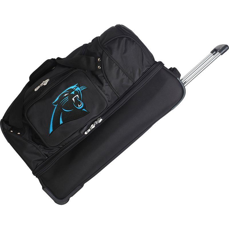 デンコスポーツ メンズ スーツケース バッグ NFL 27 Drop Bottom Wheeled Duffel Bag Carolina Panthers