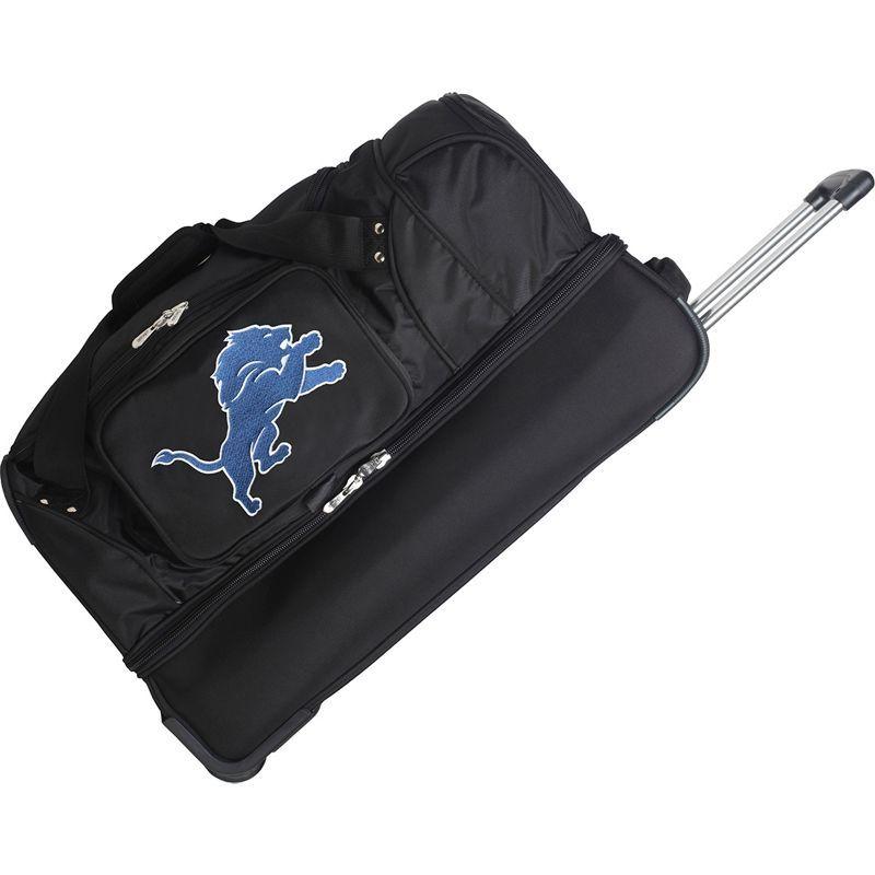 デンコスポーツ メンズ スーツケース バッグ NFL 27 Drop Bottom Wheeled Duffel Bag Detroit Lions