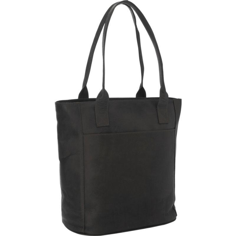 ピエール メンズ スーツケース バッグ XL Leather Laptop Tote Bag Black