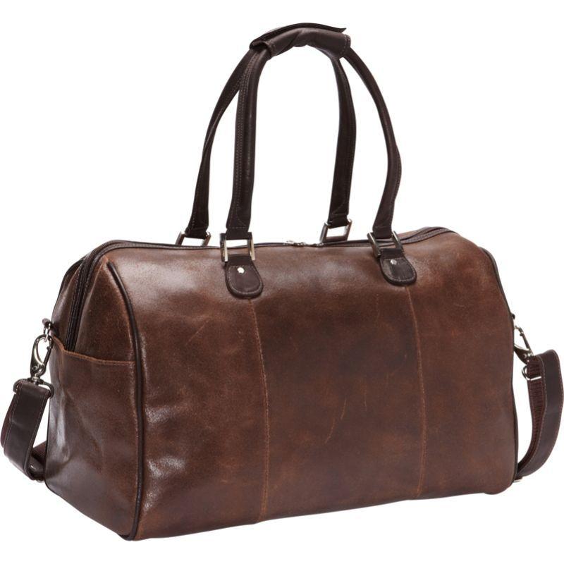 ピエール メンズ スーツケース バッグ Vintage Leather Carry-On Satchel Vintage Brown