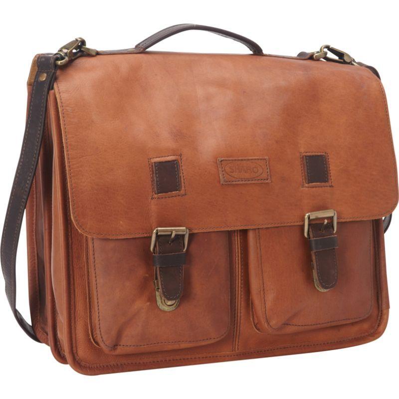 シャロレザーバッグス メンズ スーツケース バッグ Vintage Two Toned Executive Messenger Briefcase Two-Tone Dark Brown/Very Dark Brown