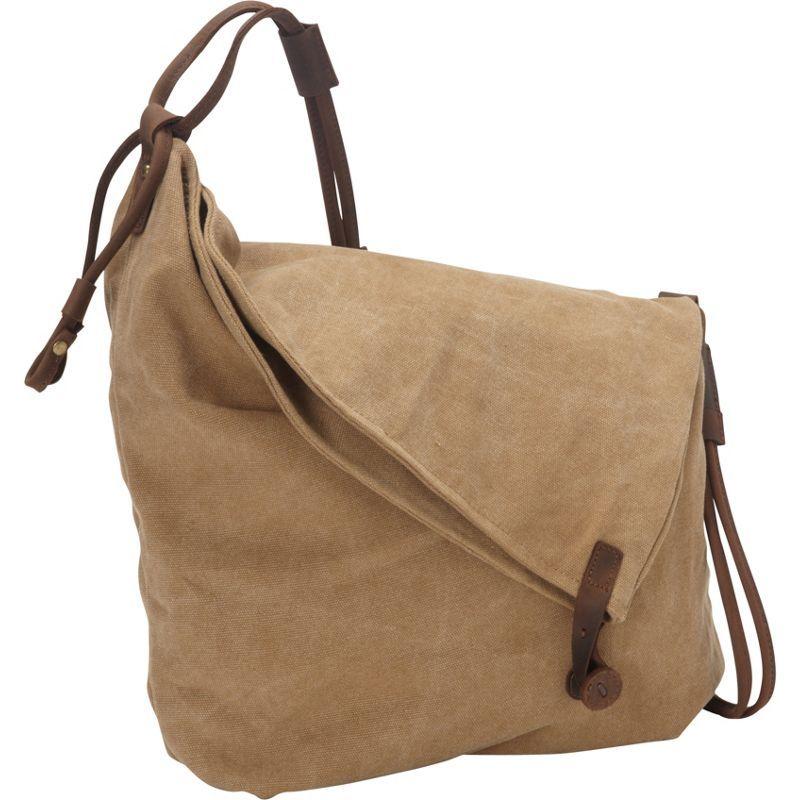 ヴァガボンドトラベラー メンズ ショルダーバッグ バッグ Casual Style Cotton Canvas Cross Body Shoulder Bag Khaki
