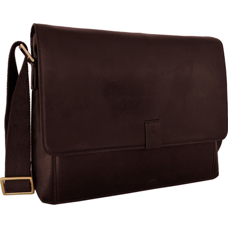 ハイデザイン メンズ スーツケース バッグ Aiden Leather Business Laptop Messenger Crossbody Bag Brown