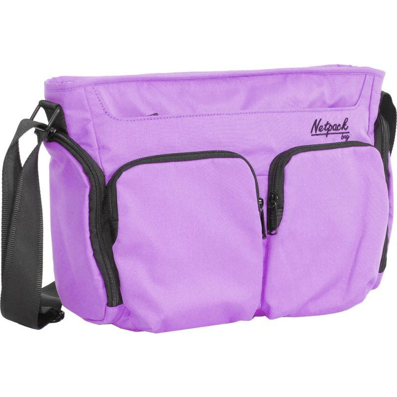 ネットパック メンズ ショルダーバッグ バッグ Soft Lightweight Compact Travel Shoulder Bag with RFID Pocket Purple