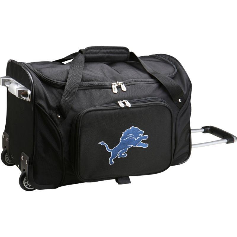 デンコスポーツ メンズ スーツケース バッグ NFL 22 Rolling Duffel Detroit Lions