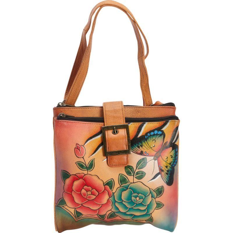アンナバイアナシュカ メンズ ショルダーバッグ バッグ Hand Painted Triple Compartment Travel Organizer Antique Rose Safari