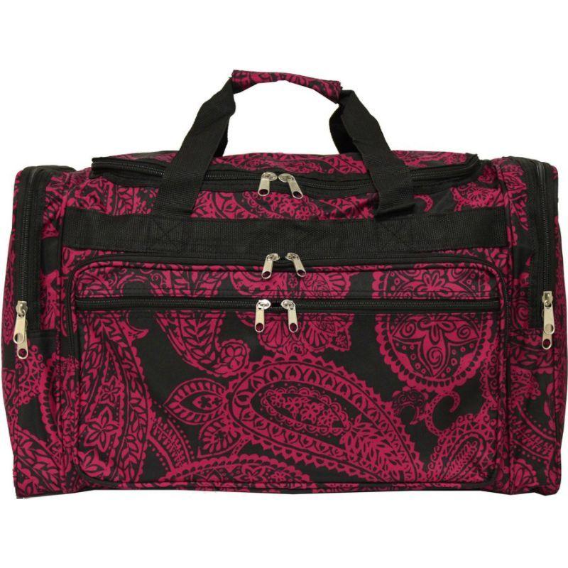 ワールドトラベラー メンズ スーツケース バッグ Paisley 22 Travel Duffle Bag Black Pink Paisley